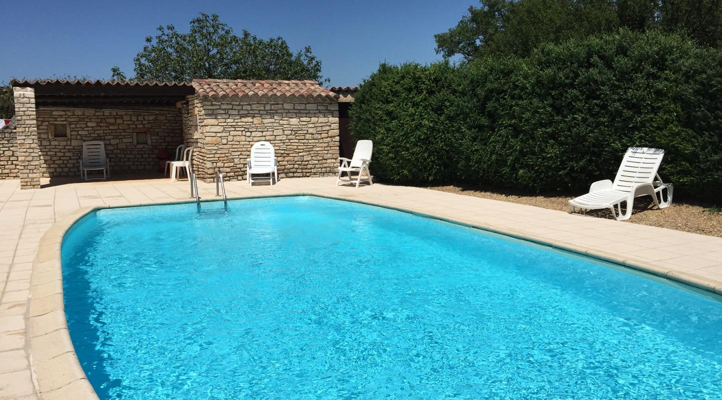 Gite avec piscine chauffée Gard
